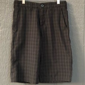 Boy's Zoo York size 14 gray black plaid shorts